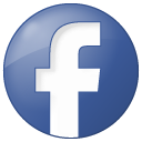 social facebook button blue